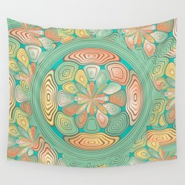 Tropical color abstract Wall Tapestry