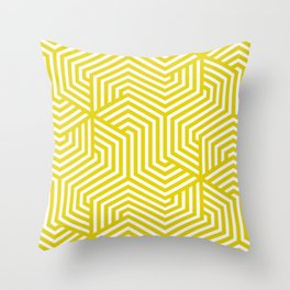 Citrine - yellow - Minimal Vector Seamless Pattern Throw Pillow