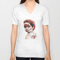 australia V-neck T-shirts featuring Australia by Cristian Blanxer