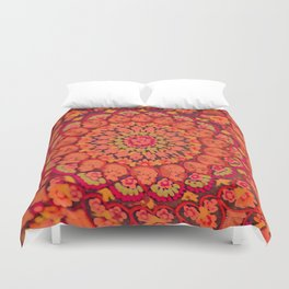 Mandala on copper plate 2 Duvet Cover