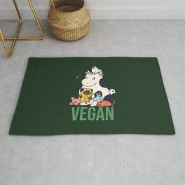 Pug and Friends Vegan Rug