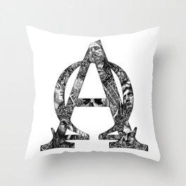 Alpha/Omega Throw Pillow