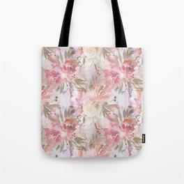 Modern blush pink ivory botanical watercolor floral Tote Bag