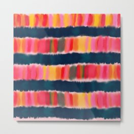 Colorful Watercolor Abstract Metal Print
