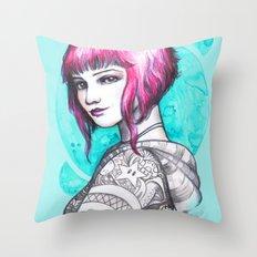 Ramona Flowers Throw Pillow