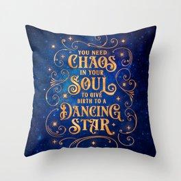 Dancing Star Throw Pillow