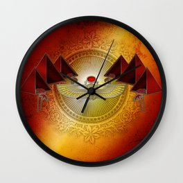 Egyptian sign, the scarab Wall Clock