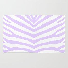 White and Lilac Zebra Safari Stripes Rug