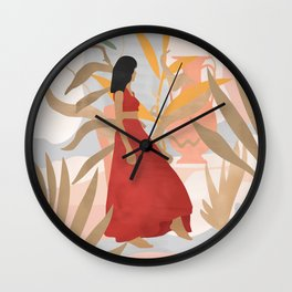 Lady Powers #illustration #Art Print Wall Clock