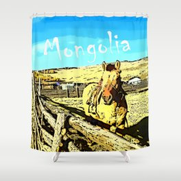 Mongolia Horse Treks (at Mountain Rubia) Shower Curtain