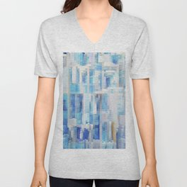 Abstract blue pattern 2 Unisex V-Neck