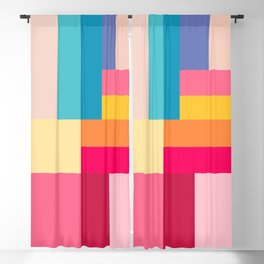 Color Stripes: Bubblegum Pink Blackout Curtain