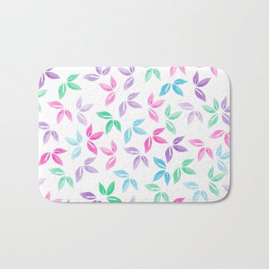 Flower Pattern VII Bath Mat