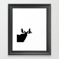 Simply moose 1 Framed Art Print