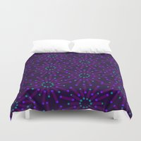 fireworks Duvet Covers featuring Fireworks  by Alexandra Aguilar
