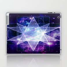 Purple Galaxy Sacred Geometry : Stellated Icoshadron Laptop & iPad Skin