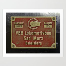 VEB Lokomotivbau Karl Marx, Babelsberg Art Print