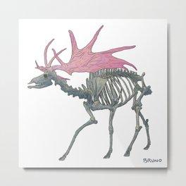 Irish Elk (White) Metal Print