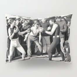 Boxing on a Naval Ship, 1899 Pillow Sham