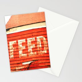 rustic feed sign Stationery Cards