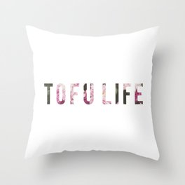 TOFU LIFE Throw Pillow