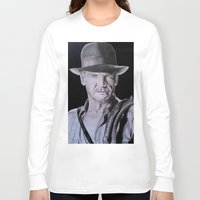 indiana jones Long Sleeve T-shirts featuring Harrison Ford (Indiana Jones) by Andulino