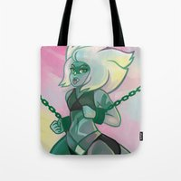 malachite Tote Bags featuring Malachite by Sarsoura