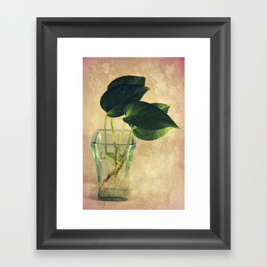 Growing Roots Framed Art Print