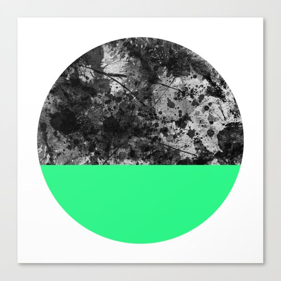 Bathing Moon (In Green) Canvas Print