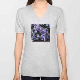 Viola Blue Floral Unisex V-Neck