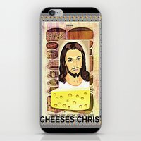 christ iPhone & iPod Skins featuring CHEESES CHRIST by Kathead Tarot/David Rivera