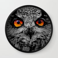 anaconda Wall Clocks featuring YOU'RE THE ORANGE OF MY EYES by Catspaws