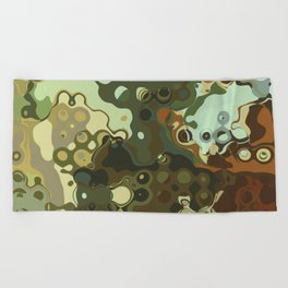 RETRO Mid Century Modern Abstract Pattern Geometric Art by Michel Keck Beach Towel