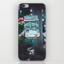 SPRING IN A JAR iPhone Skin
