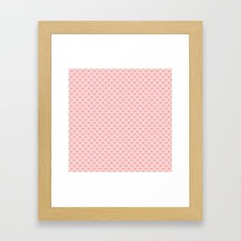 Large Blush Pink Lovehearts on Light Pink Framed Art Print