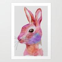 rabbit 3/3 (2016) Art Print