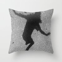 skate Throw Pillows featuring Skate by Keepcalmdude