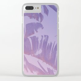 Tropical Sunset Banana Leaves Design Clear iPhone Case
