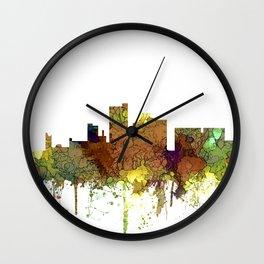 Lubbock, Texas Skyline - Safari Buff Wall Clock