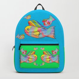 Rainbow fish by Elisavet | colorful #society6 Backpack