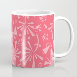 Red Spring Pattern Coffee Mug