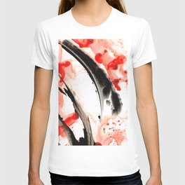 Black White Red Art - Tango 3 - Sharon Cummings T-shirt