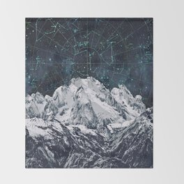 Constellations over the Mountain Throw Blanket