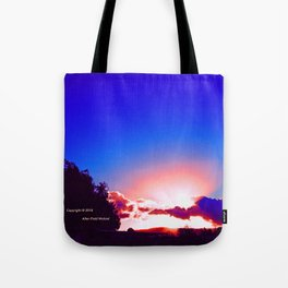 """""""Day's End  #273"""" with poem: Passing Days Tote Bag"""