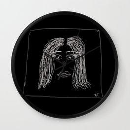 Dazed Eyes Full of Broken Dreams Wall Clock