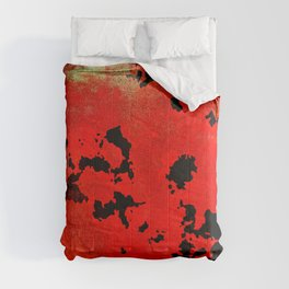 Red Modern Contemporary Abstract Textured Design Comforters