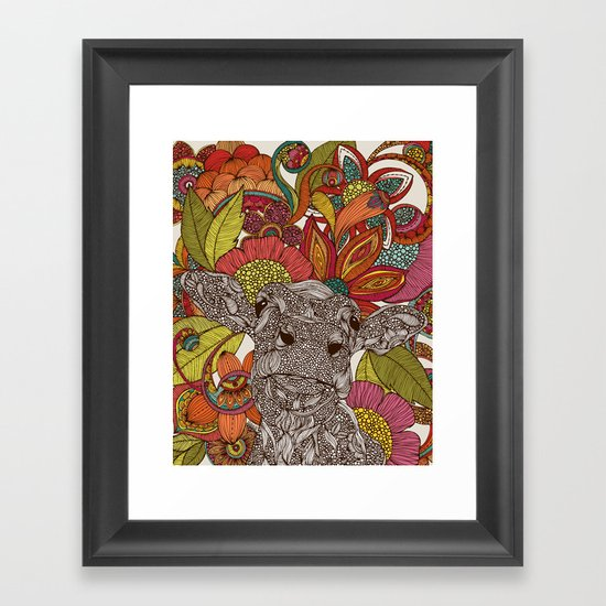 Arabella and the flowers Framed Art Print