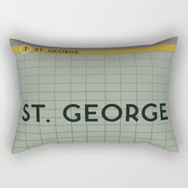 ST. GEORGE | Subway Station Rectangular Pillow