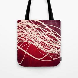 Linear Flow-Red Complex Tote Bag