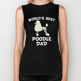 World's Best Poodle Dad Biker Tank